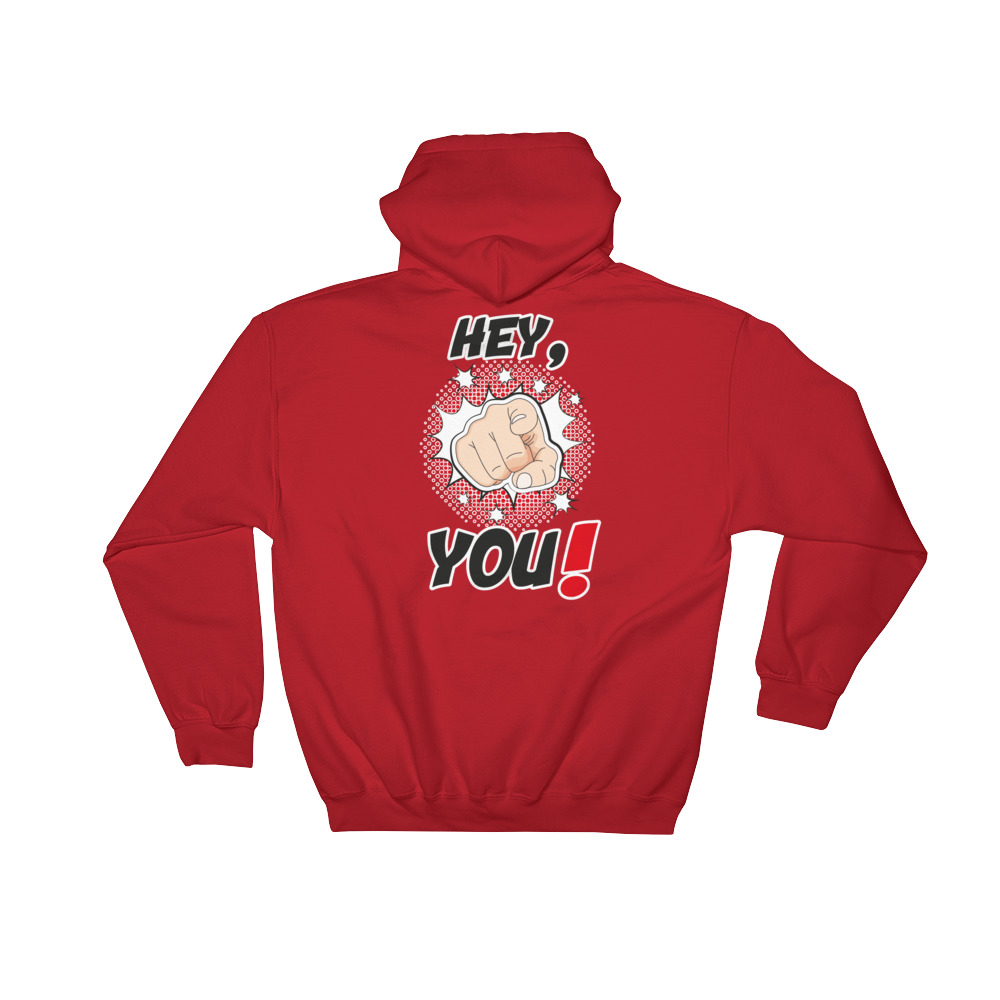 "Handwritings ""Hey, you !"" – Sweat à capuche Homme et Femme (Unisexe)"