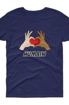 "Handwritings ""Humain"" - T-shirt Femme manches courtes"