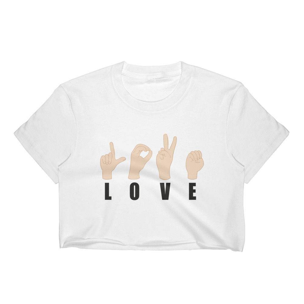 "Handwritings ""Love"" – Crop-top Femme"