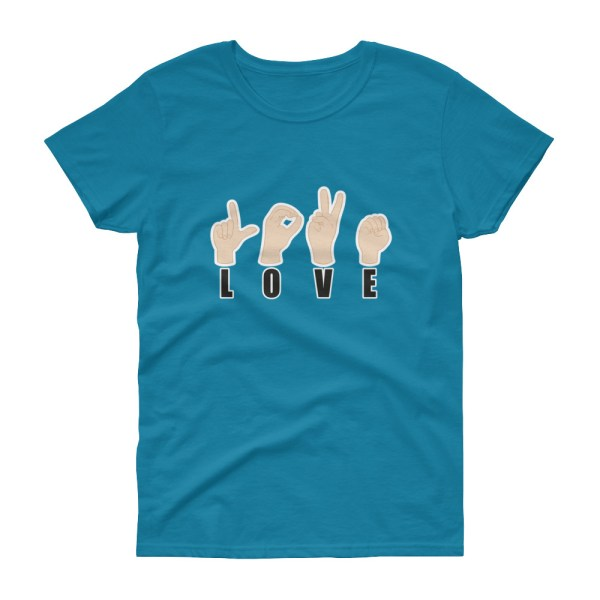 "Handwritings ""Love"" - T-shirt Femme manches courtes"