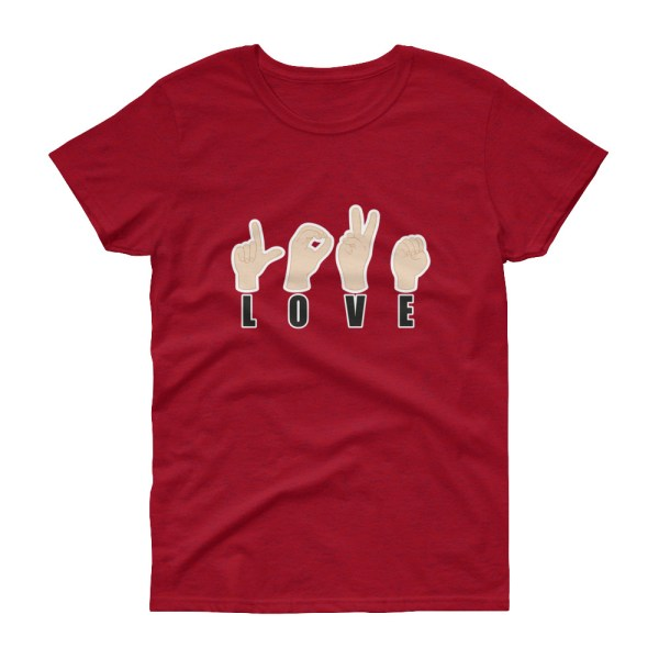 "Handwritings ""Love"" - T-shirt Femme manches courtes"