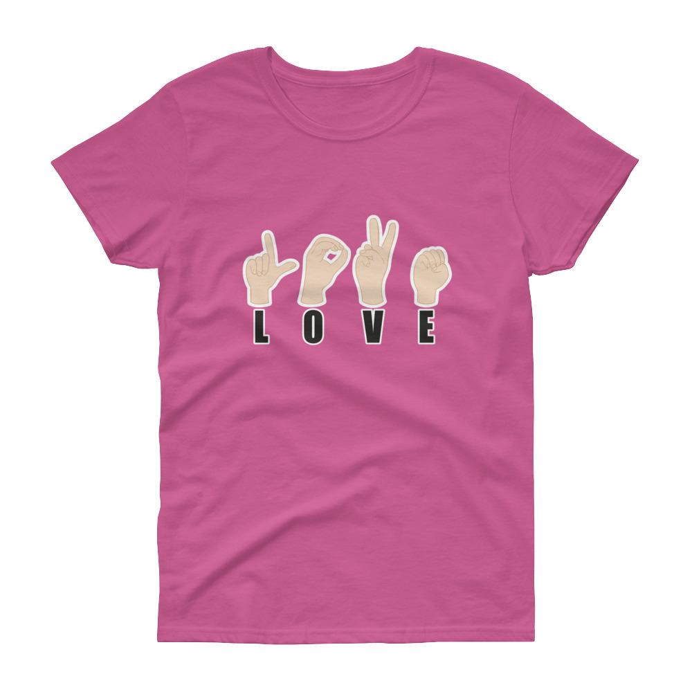 "Handwritings ""Love"" – T-shirt Femme manches courtes"