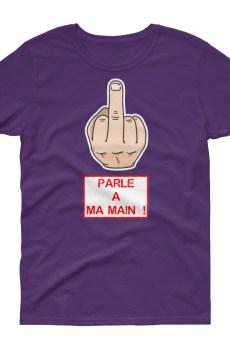 """Handwritings """"Parle à ma main !"""" - T-shirt Femme manches courtes"""
