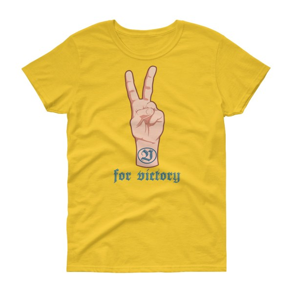"""Handwritings """"V for Victory"""" - T-shirt Femme manches courtes"""