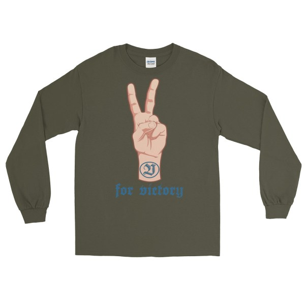 """Handwritings """"V for victory"""" - T-shirt manches longues Homme et Femme (Unisexe)"""