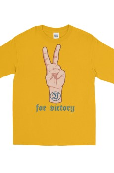 "Handwritings ""V for victory"" - T-shirt manches longues Homme et Femme (Unisexe)"
