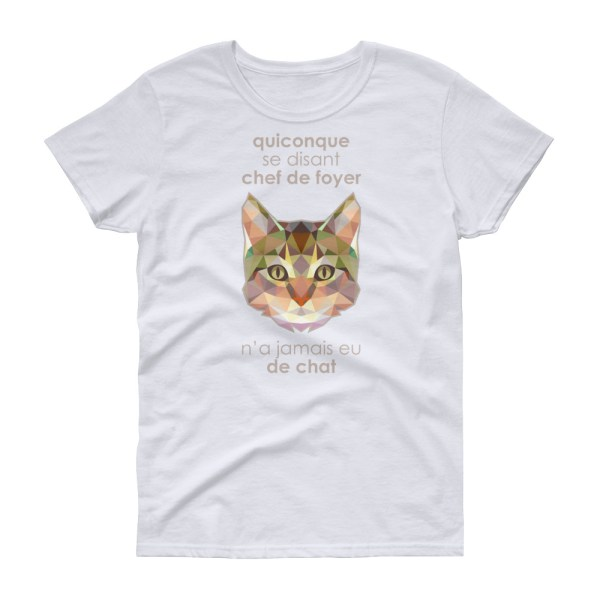 """Zoo """"Chat"""" - T-shirt Femme manches courtes"""