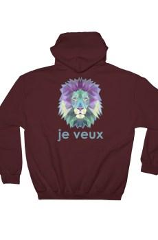 """Zoo """"Lion"""" - Sweat à capuche Homme et Femme (Unisexe)"""