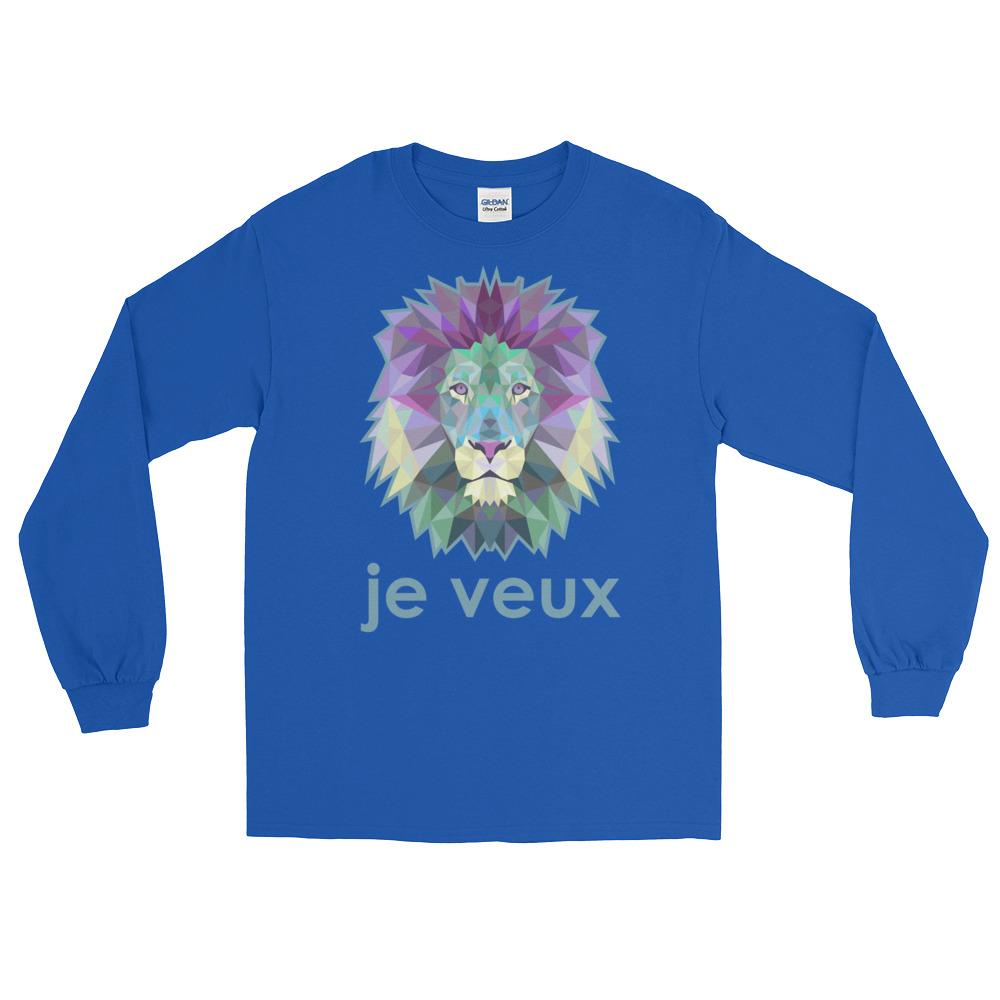 """Zoo """"Lion"""" – T-shirt manches longues Homme et Femme (Unisexe)"""
