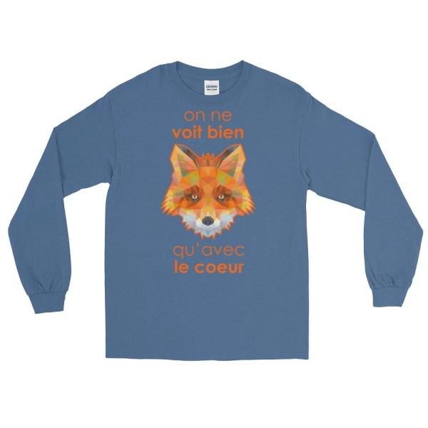 """Zoo """"Renard"""" - T-shirt manches longues Homme et Femme (Unisexe)"""