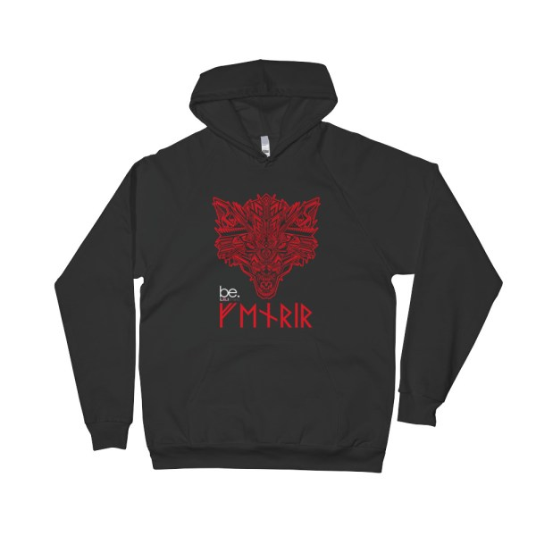"Black Edition : Fenrir ""Tatoo"" - Sweat-shirt à capuche Homme et Femme (Unisexe)"