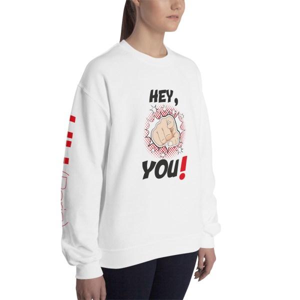 "Handwritings ""Hey, you !"" - Sweat-shirt Unisexe"