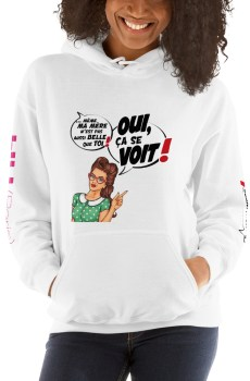 """Punchliness """"Ça se voit !"""" - Sweat-shirt à capuche Femme"""