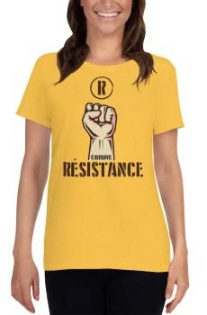 """Handwritings """"R comme Résistance"""" - T-shirt manches courtes Femme"""