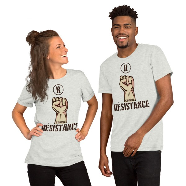 """Handwritings """"R comme Résistance"""" - T-shirt manches courtes Unisexe"""