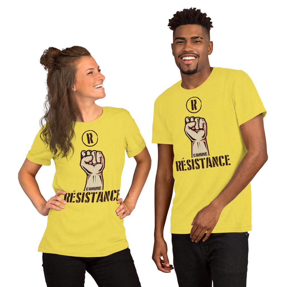 """Handwritings """"R comme Résistance"""" – T-shirt manches courtes Unisexe"""