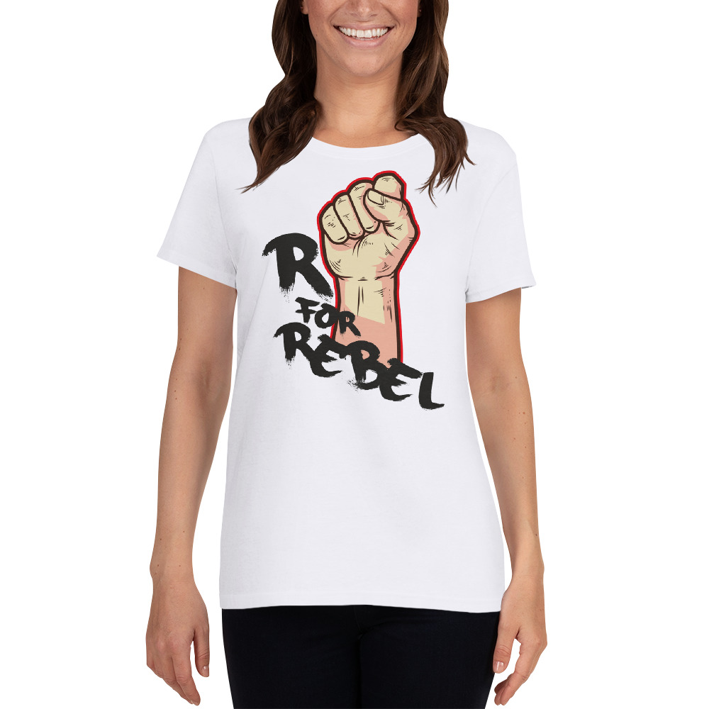 "Handwritings ""R for Rebel"" – T-shirt manches courtes Femme"