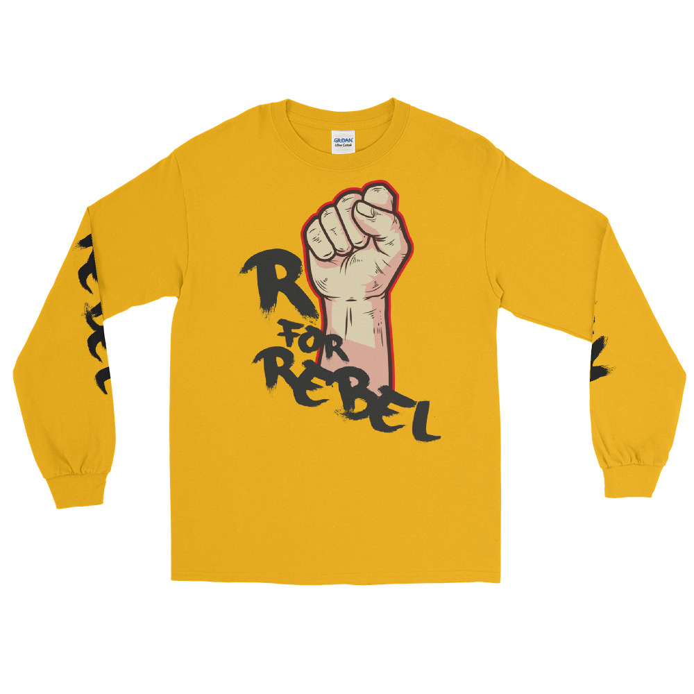"Handwritings ""R for Rebel"" – T-shirt manches longues Unisexe"