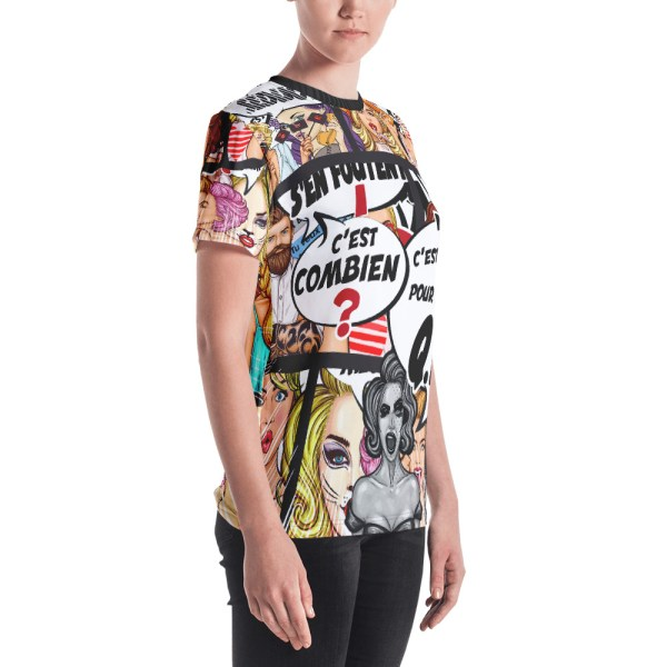 """Punchliness """"C'est combien ?"""" - T-shirt Crew-neck Femme"""