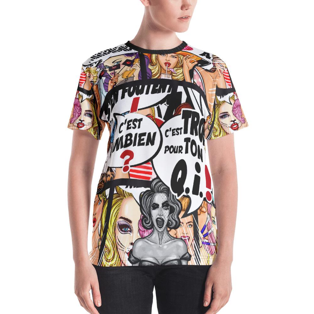 """Punchliness """"C'est combien ?"""" – T-shirt Crew-neck Femme"""