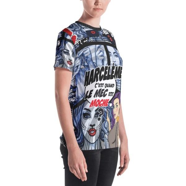 "Punchliness ""Harcèlement"" - T-shirt Crew-neck Femme"