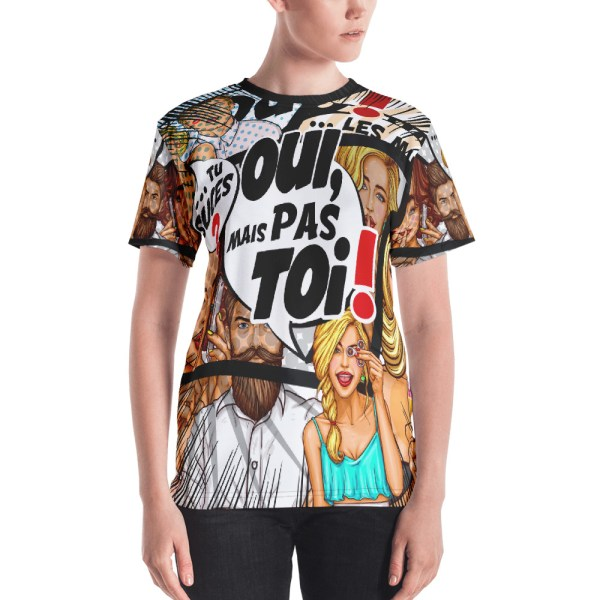 "Punchliness ""Tu suces ?"" - T-shirt crew-neck Femme"