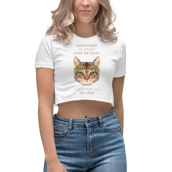 "Zoo ""Chat"" - Crop-top Femme"