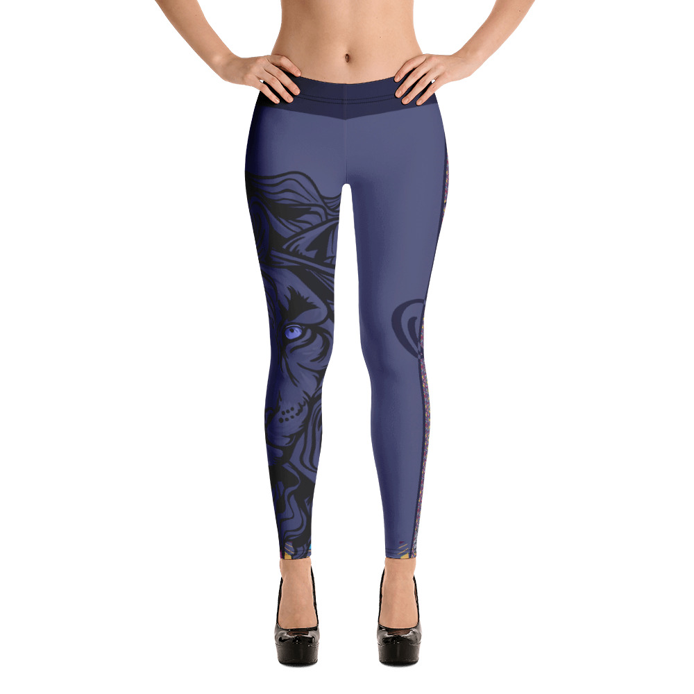 "Zoo Lion Edition ""Grey Queen"" – Leggings Casual Femme"