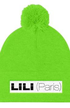 LILI (Paris) Noir / Blanc - Bonnet à pompon Unisexe