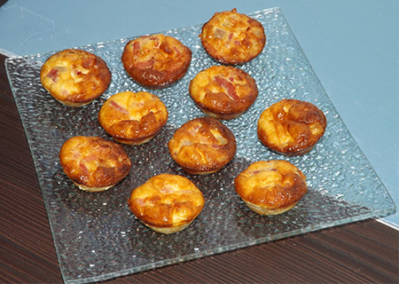 Minis quiches lorraines express