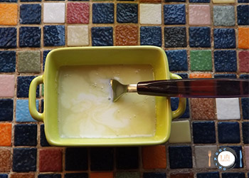 Préparation crème chocolat blanc