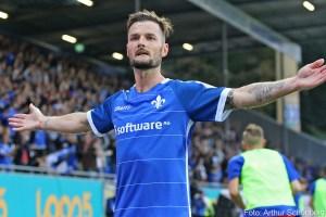 Marcel Heller jubelt gegen Duisburg
