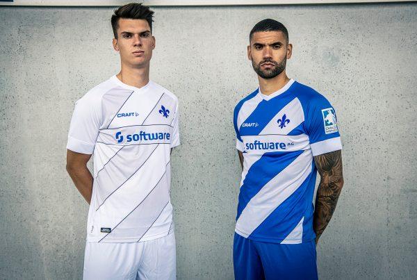 Mathias Honsak und Victor Pálsson, Trikot 2020/21, SV Darmstadt 98