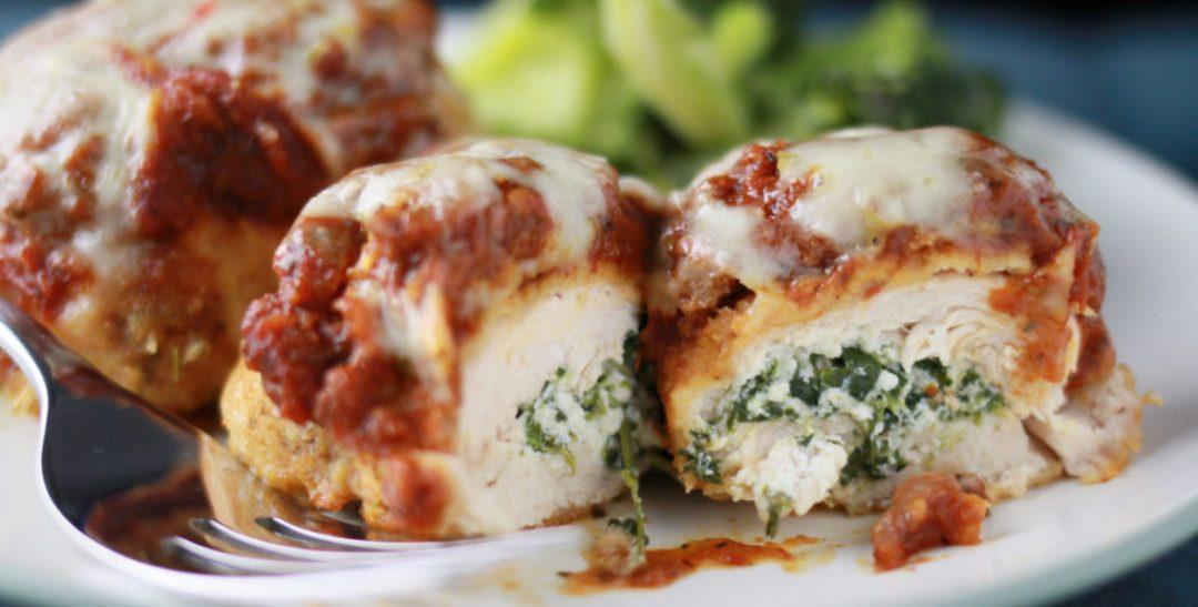Spinach Stuffed Chicken Parm