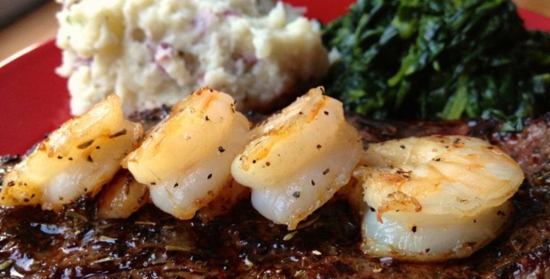 Roasted Shrimp and Steak
