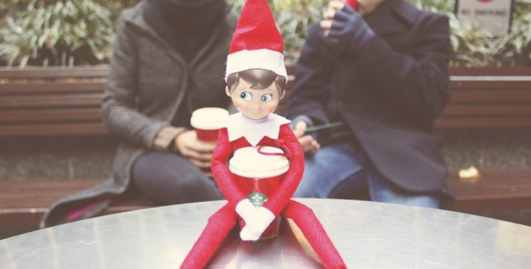Elf on the Shelf: Starbucks
