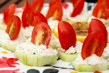 Cucumber and Goat Cheese Sliders