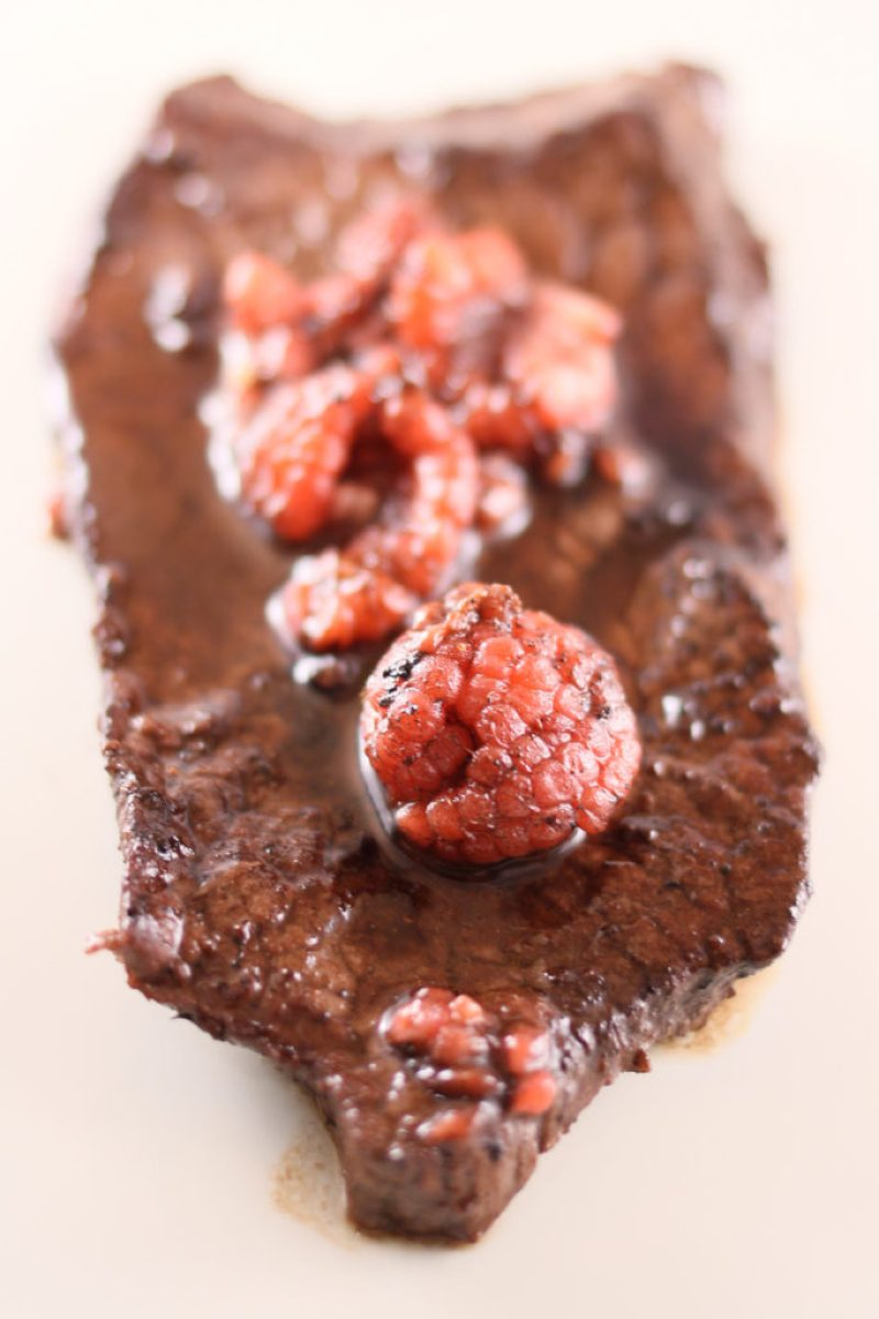 Raspberry and Red Wine Steak