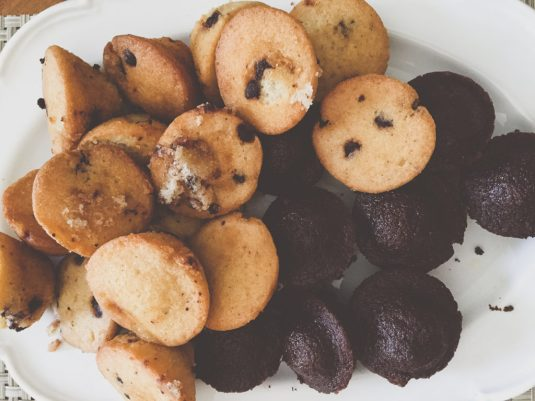 Chocolate Chip and Double Chocolate Mini Muffins