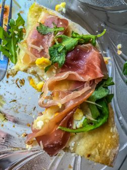 Goat Cheese, Arugula, and Prosciutto