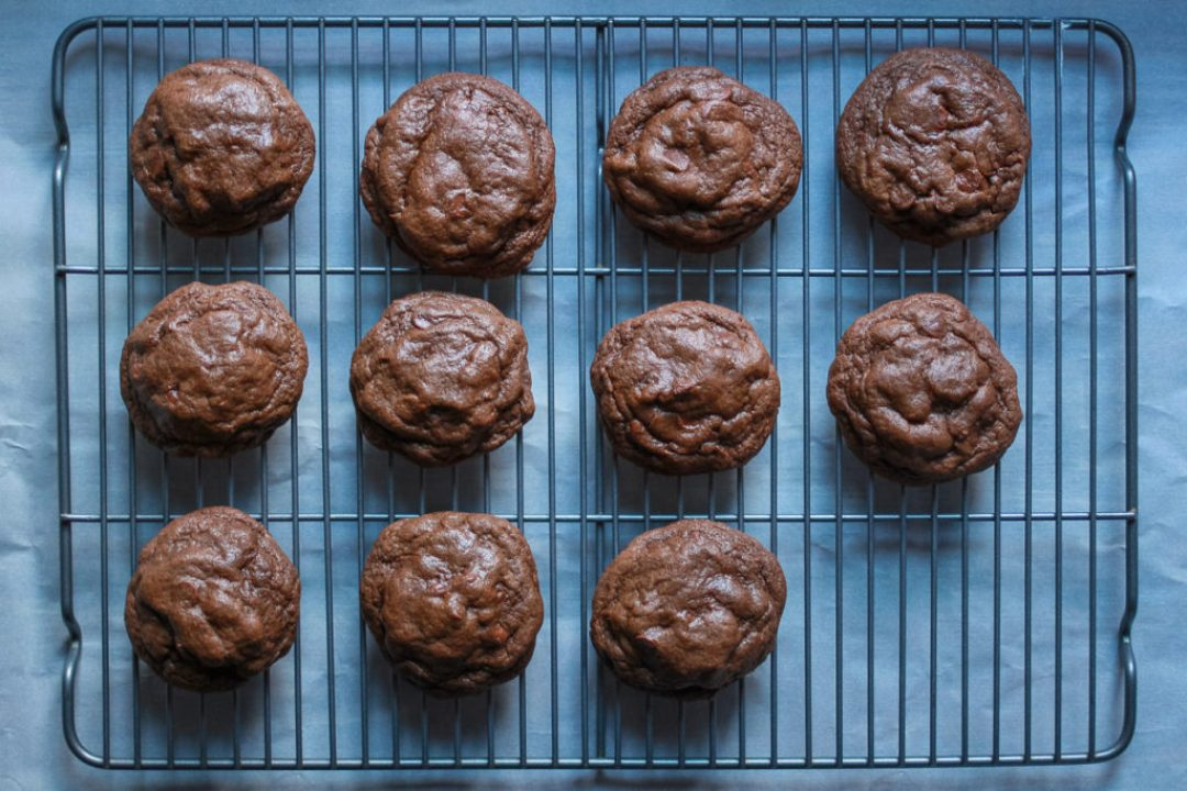 French Vanilla Chewy Double Chocolate Chip Cookies