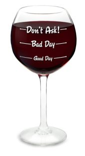 'How Was Your Day' Wine Glass