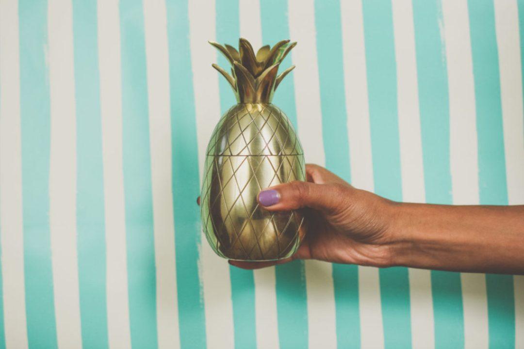 Gold Pineapple Tumbler