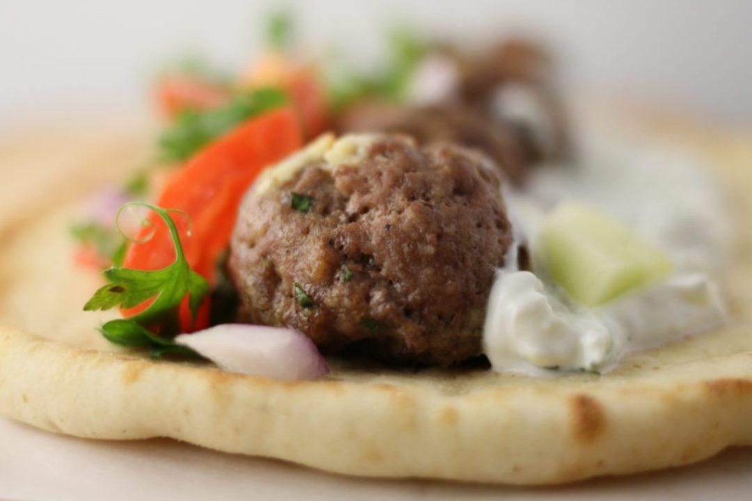 Mediterranean Meatball Gyros