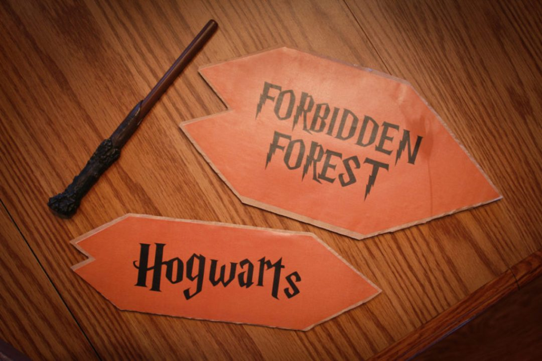 Hogwarts and Forbidden Forest DIY Signs
