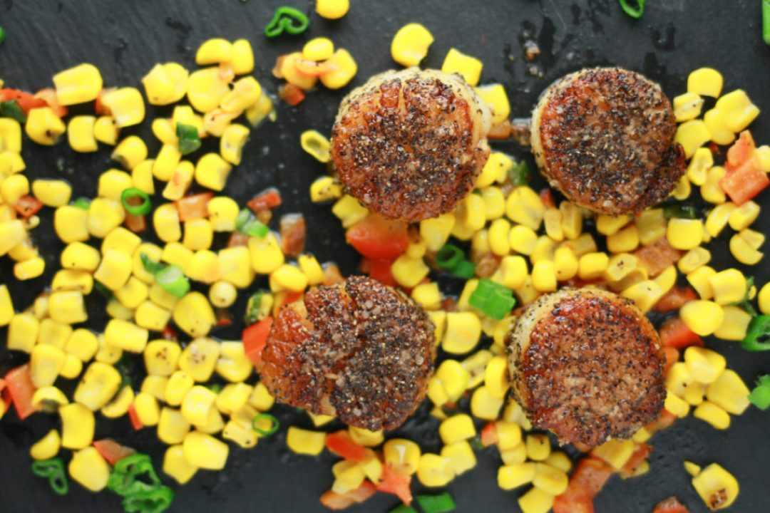 Perfect Seared Scallops and Warm Corn Salad: Cooking Through Cravings