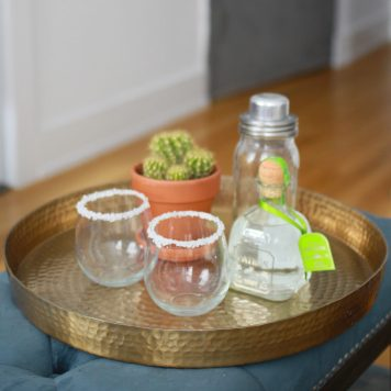 Target Threshold Gold Serving Tray