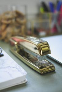 Gold Stapler - LiliesandLoafers