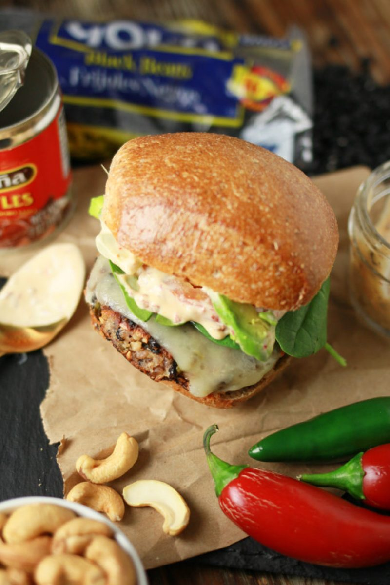 Black Bean Burger with Chipotle Mayo