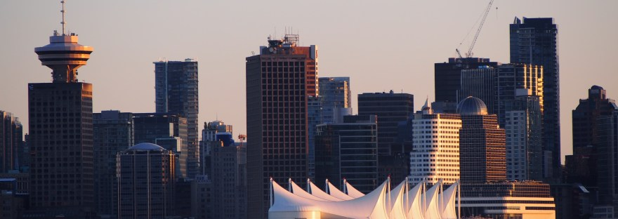 Coucher de soleil depuis North Vancouver